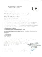 Certificate of Conformity - H+ heater, H+h heater, H+R remote controller